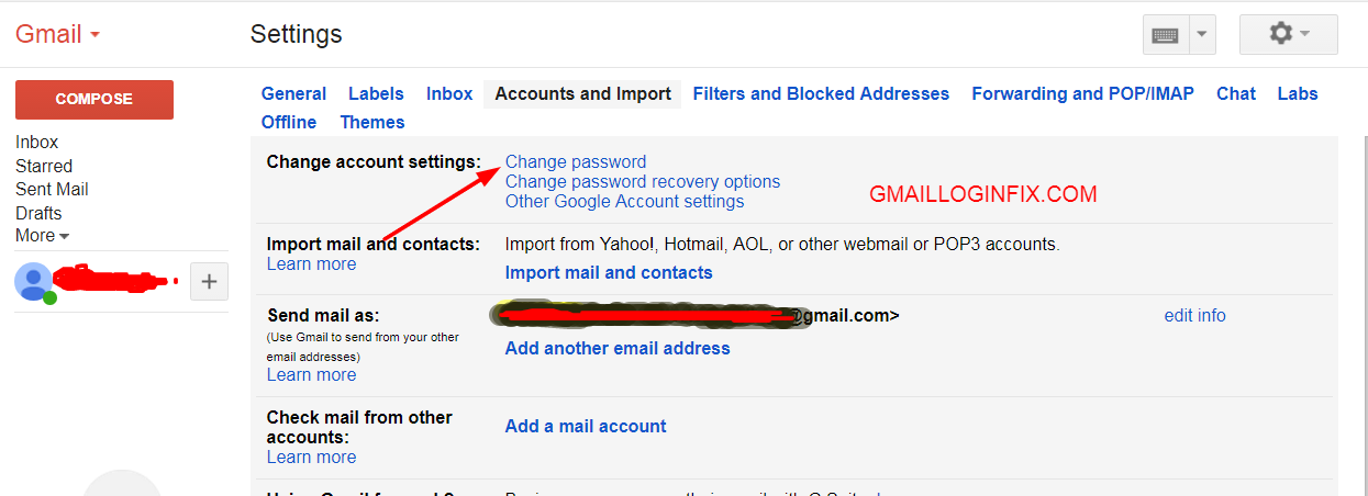 Change Gmail password - Gmail password recovery - Gmail Login